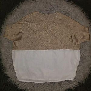 Zara Silk and knit blouse